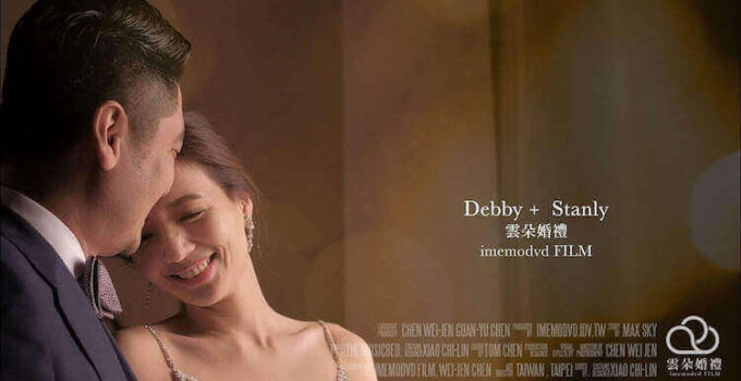 雲朵婚禮錄影,新人在新竹國賓飯店的客房內拍攝動態類婚紗影片