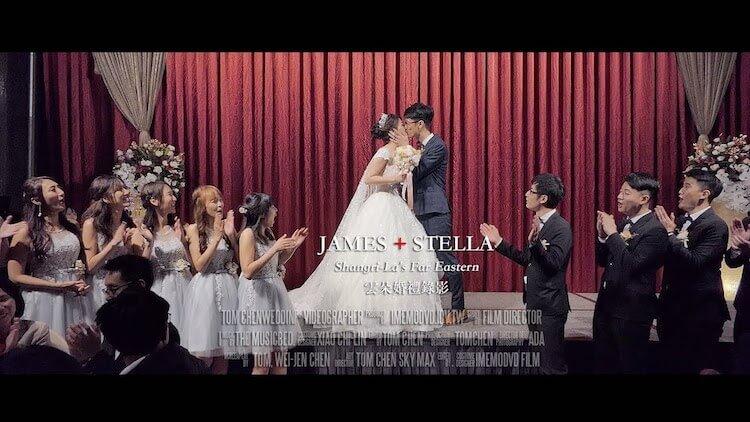 新娘幸福的笑容,感染著每一個人,喜氣瞬間盈滿香格里拉台北遠東國際大飯店,讓攝影師捕捉新娘可愛的瞬間