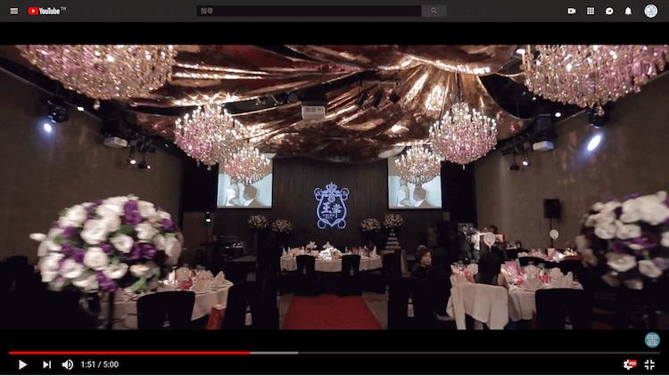 君品酒店5樓亮廳婚宴大型水晶燈