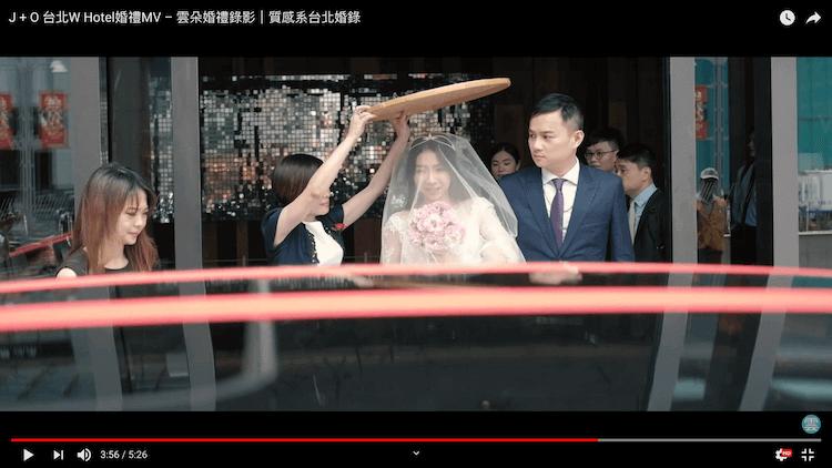 新娘迎娶儀式準備上禮車
