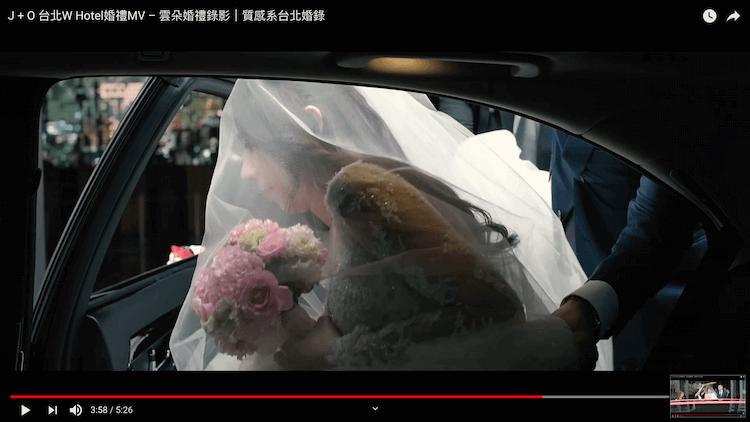 新郎迎娶儀式準備上禮車